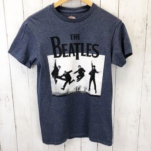 The Beatles Blue T-Shirt Sz S ::KK19